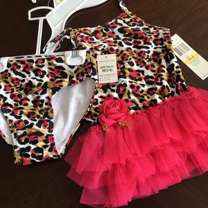 NWT Girls two piece swimsuit size 5-6